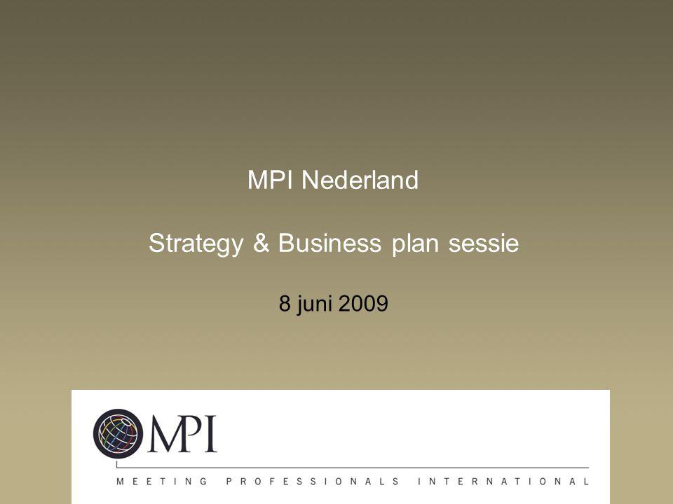 MPI Nederland Strategy & Business plan sessie