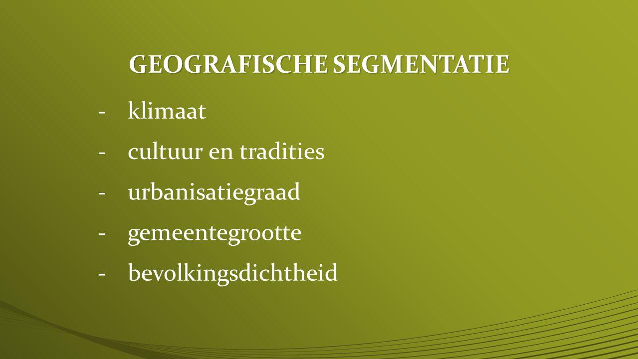GEOGRAFISCHE SEGMENTATIE