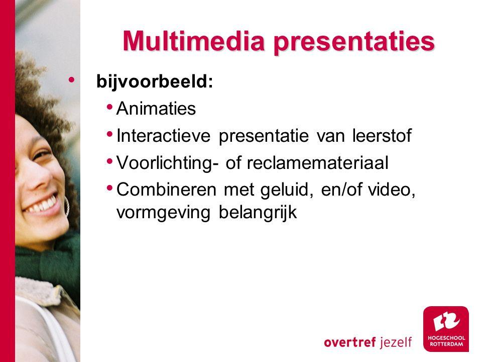 Multimedia presentaties