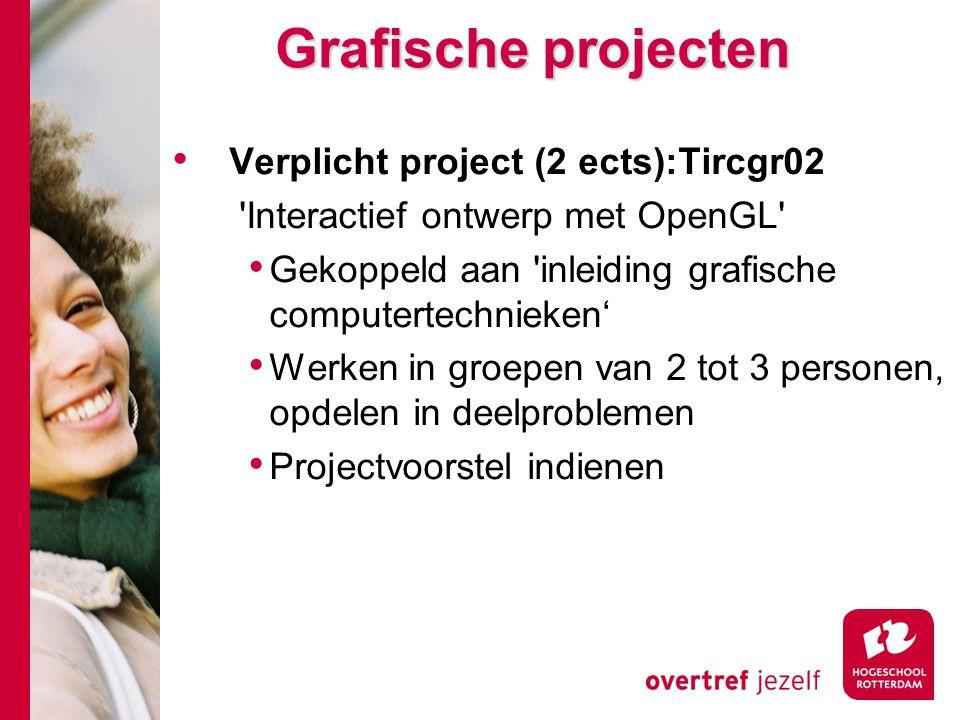 Grafische projecten Verplicht project (2 ects):Tircgr02