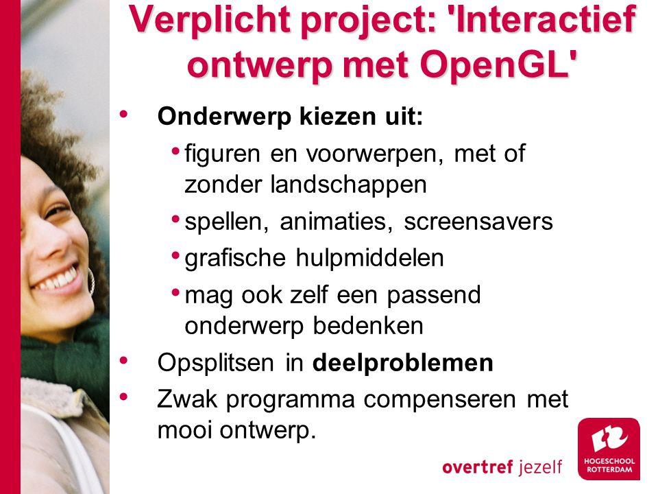 Verplicht project: Interactief ontwerp met OpenGL