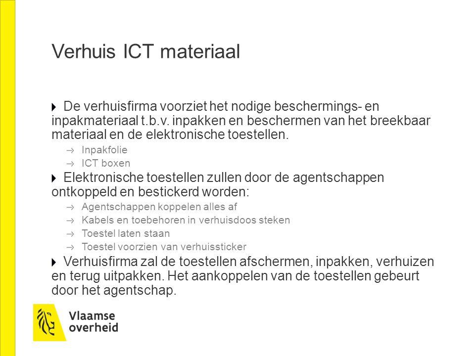 Verhuis ICT materiaal