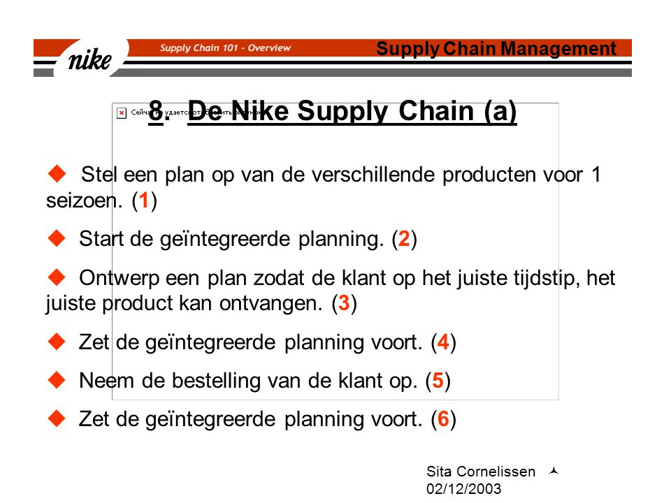 8. De Nike Supply Chain (a)