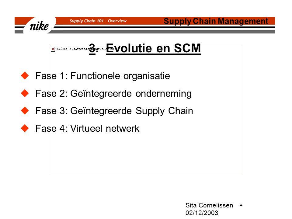 3. Evolutie en SCM Fase 1: Functionele organisatie