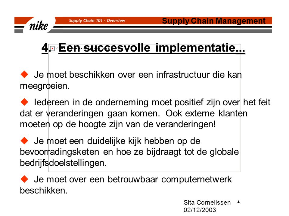 4. Een succesvolle implementatie...