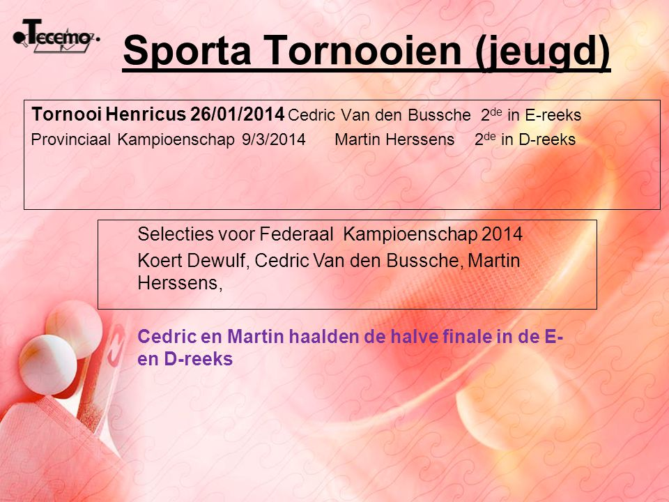 Sporta Tornooien (jeugd)
