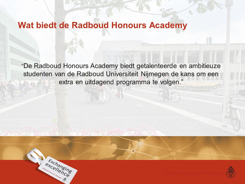 Wat biedt de Radboud Honours Academy