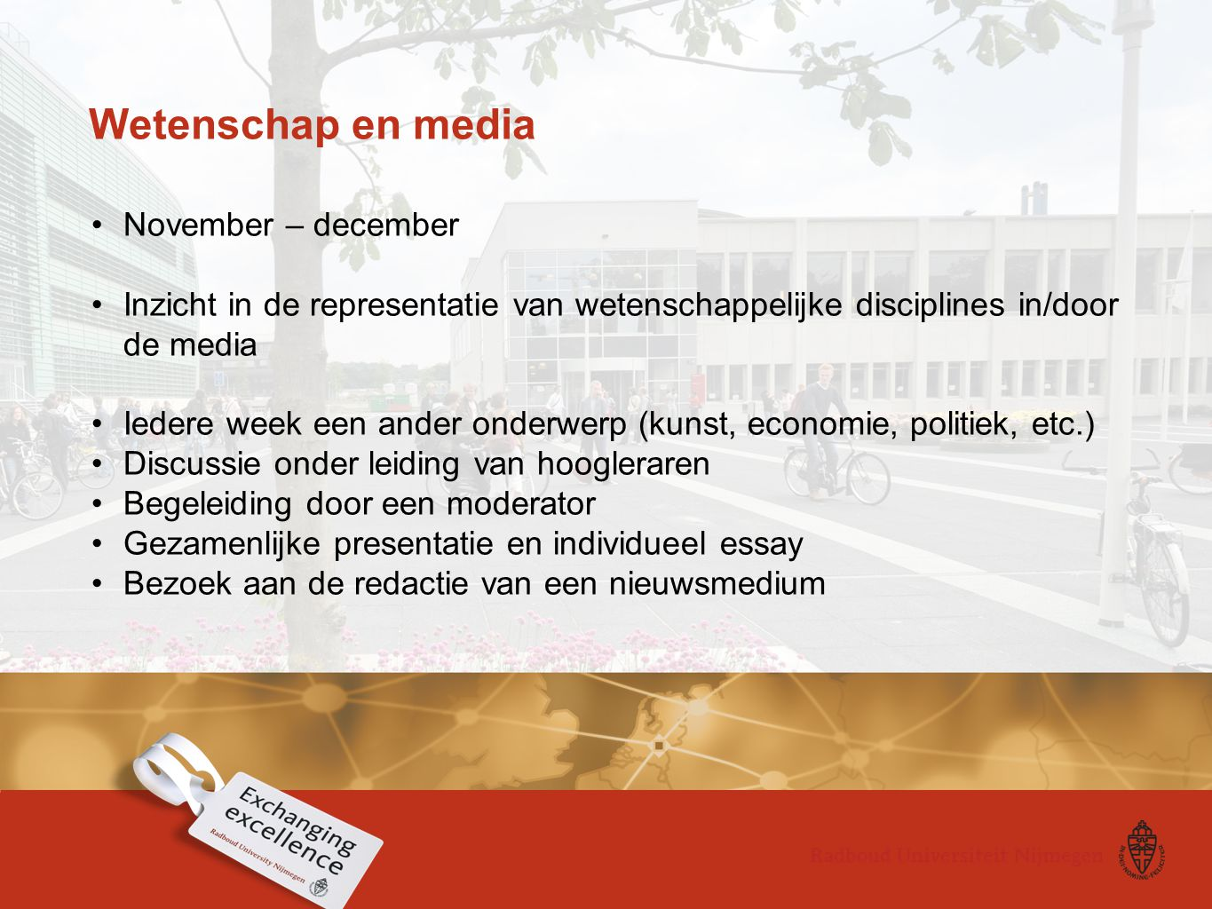 Wetenschap en media November – december