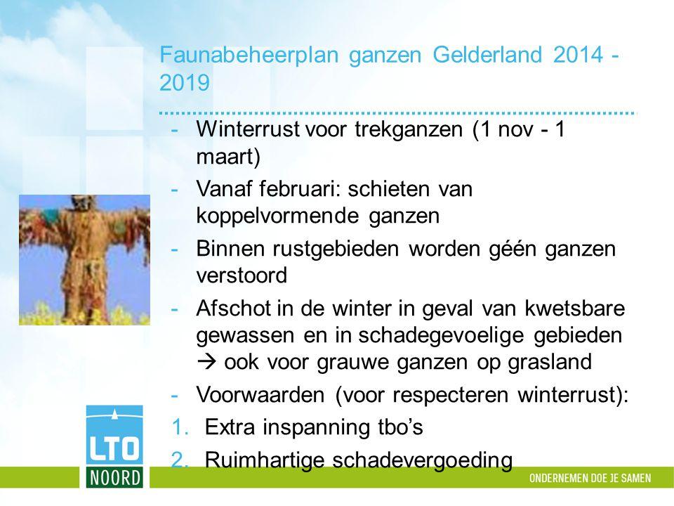 Faunabeheerplan ganzen Gelderland 2014 - 2019