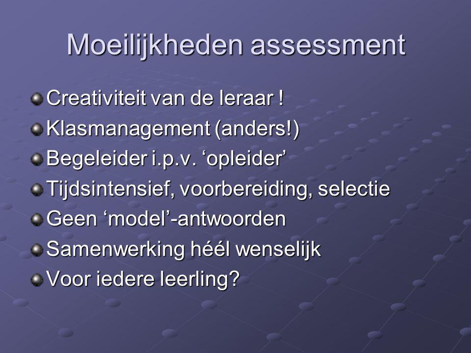 Moeilijkheden assessment