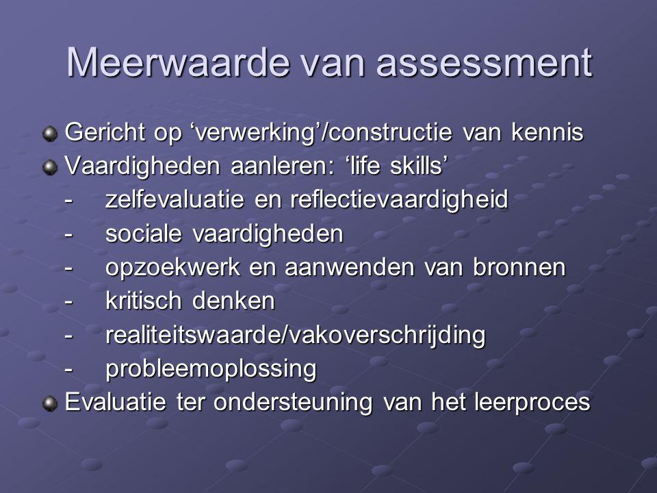 Meerwaarde van assessment