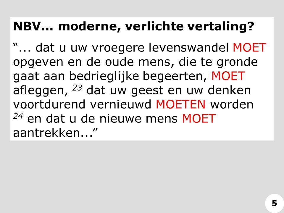 NBV... moderne, verlichte vertaling