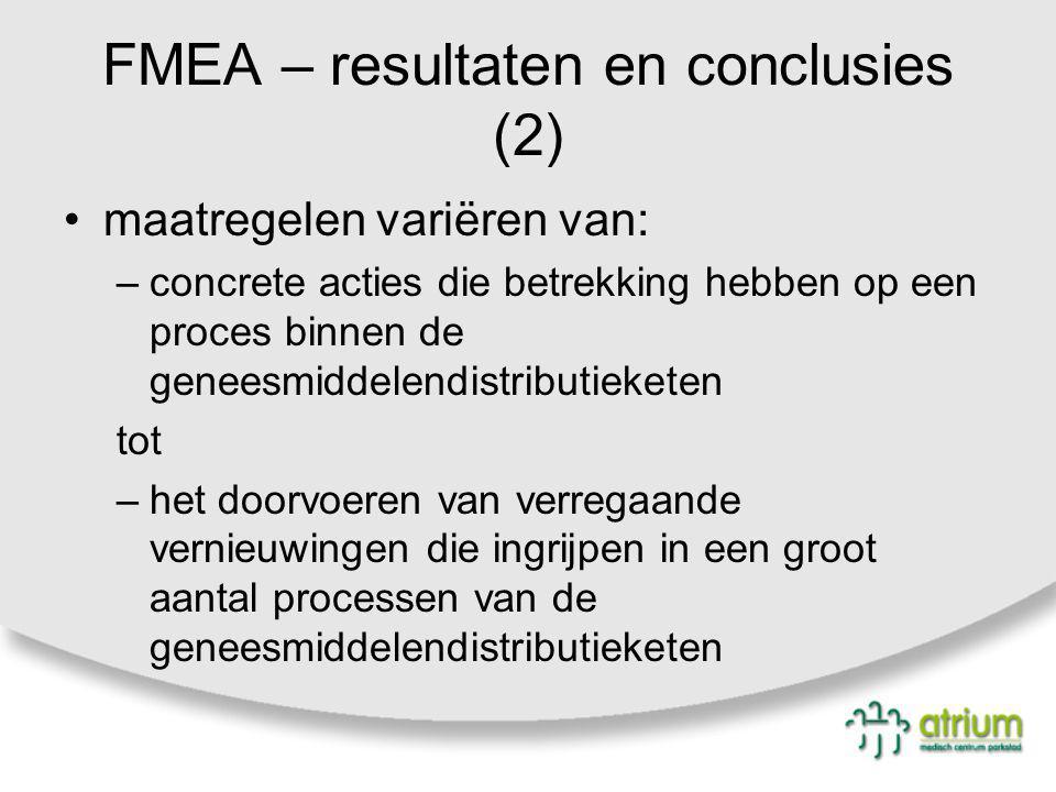 FMEA – resultaten en conclusies (2)