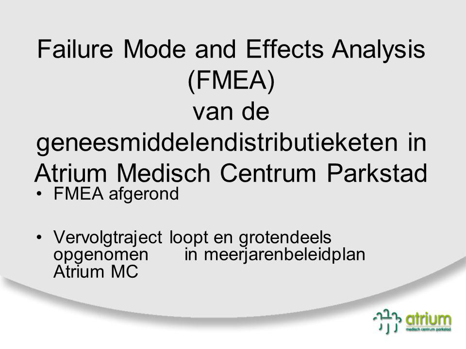 Failure Mode and Effects Analysis (FMEA) van de geneesmiddelendistributieketen in Atrium Medisch Centrum Parkstad