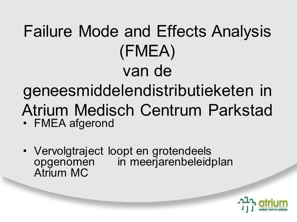 Failure Mode and Effects Analysis (FMEA) van de geneesmiddelendistributieketen in Atrium Medisch Centrum Parkstad