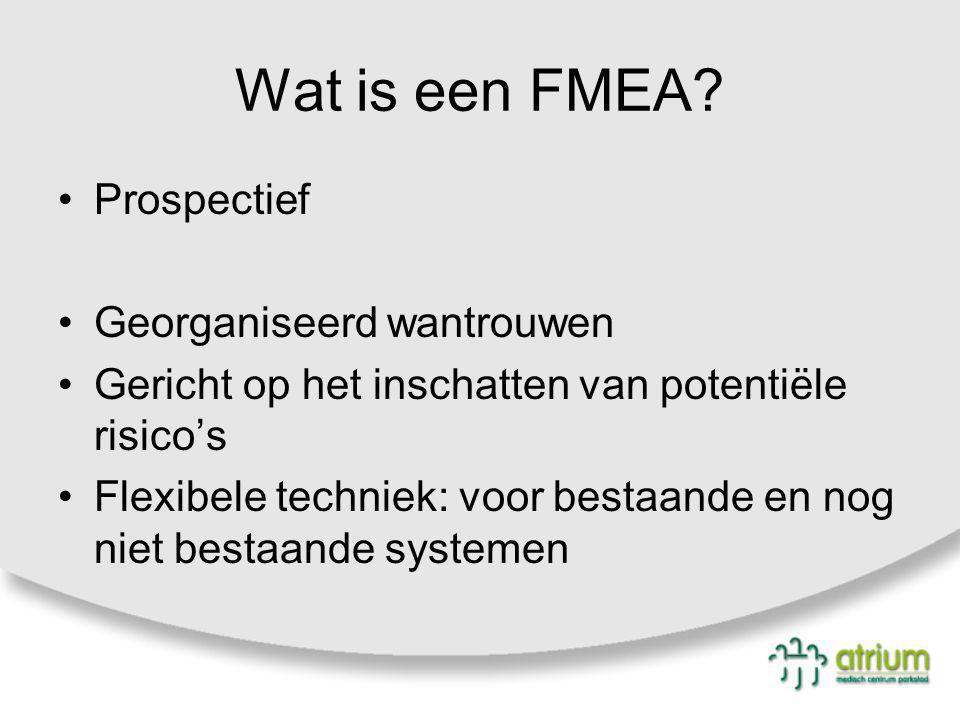 Wat is een FMEA Prospectief Georganiseerd wantrouwen