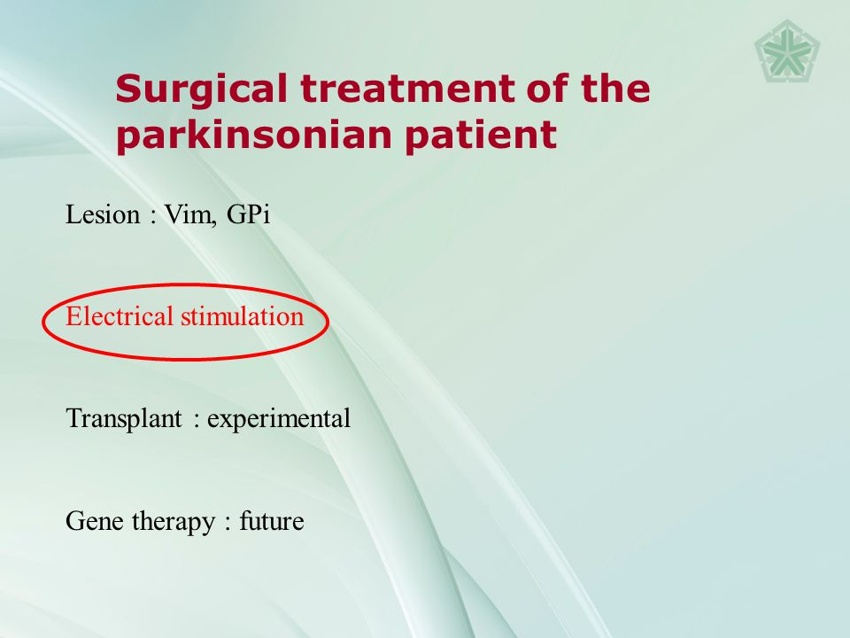 Surgical treatment of the parkinsonian patient