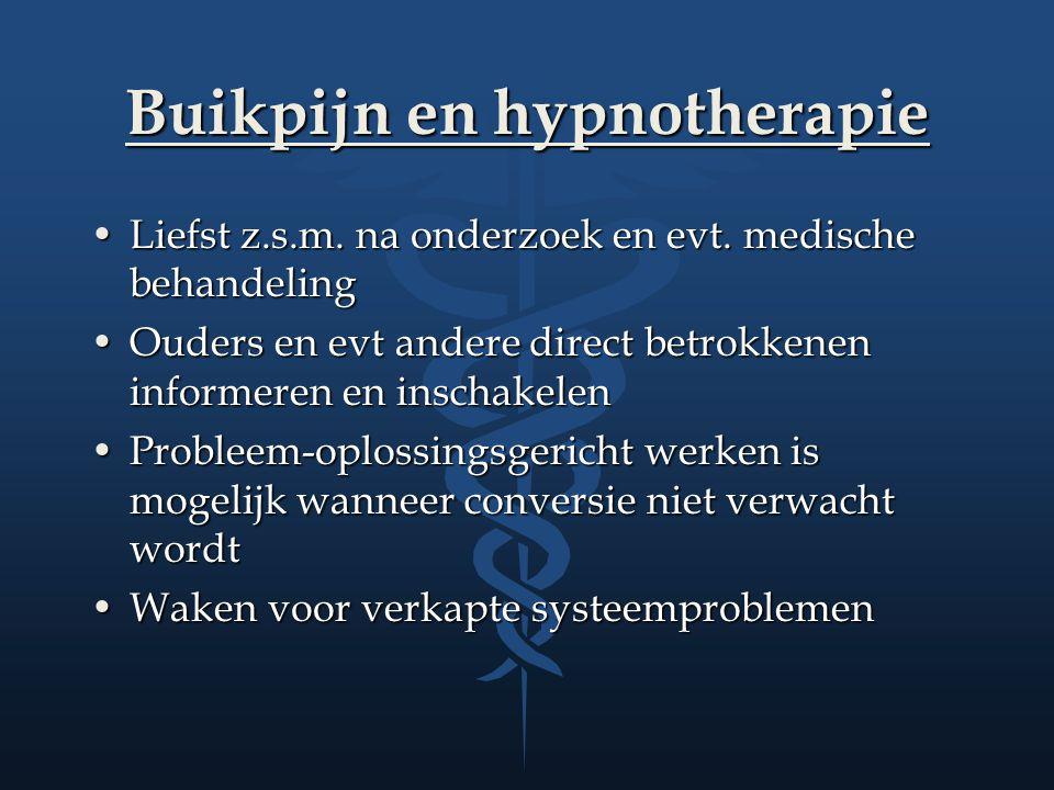 Buikpijn en hypnotherapie