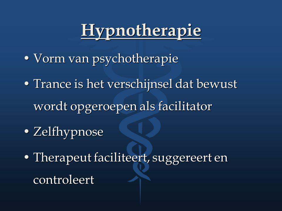 Hypnotherapie Vorm van psychotherapie