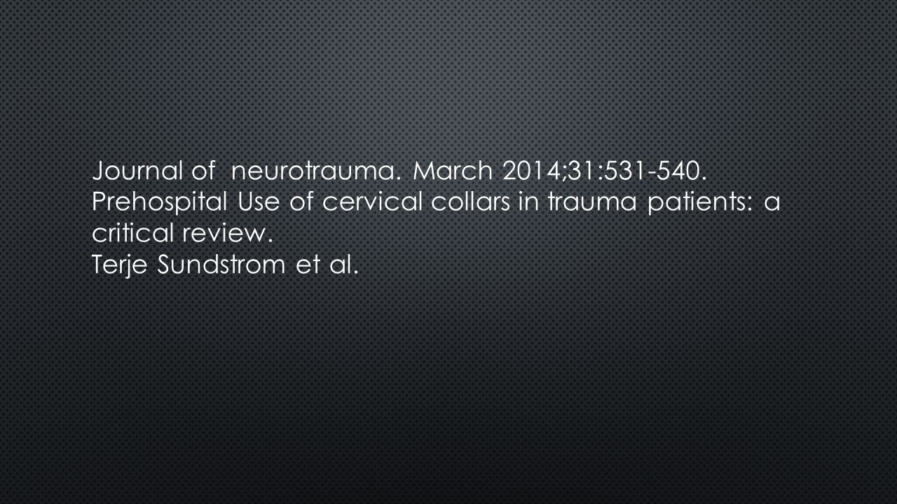 Journal of neurotrauma. March 2014;31:531-540