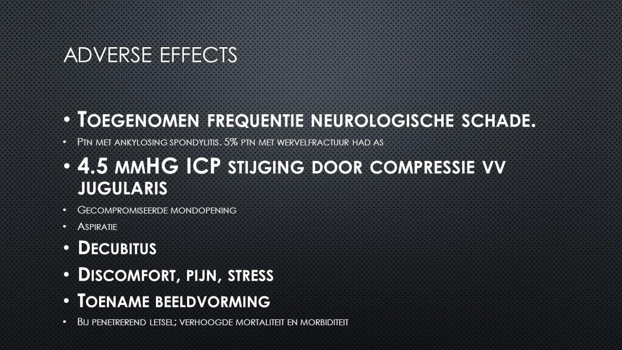 Toegenomen frequentie neurologische schade.