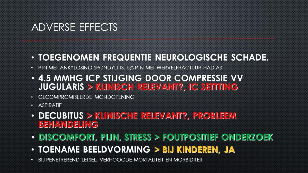 Adverse effects TOEGENOMEN FREQUENTIE NEUROLOGISCHE SCHADE.