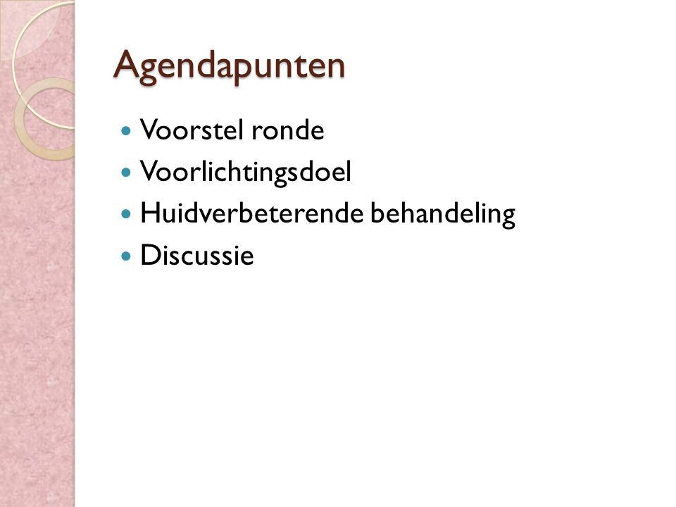 Agendapunten Voorstel ronde Voorlichtingsdoel