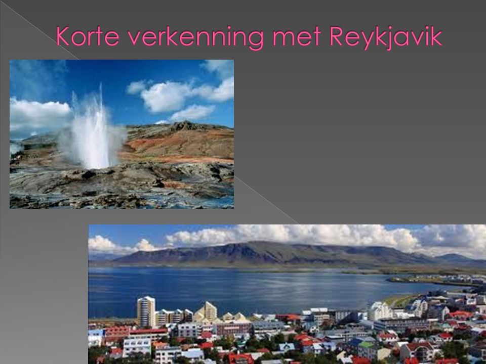 Korte verkenning met Reykjavik