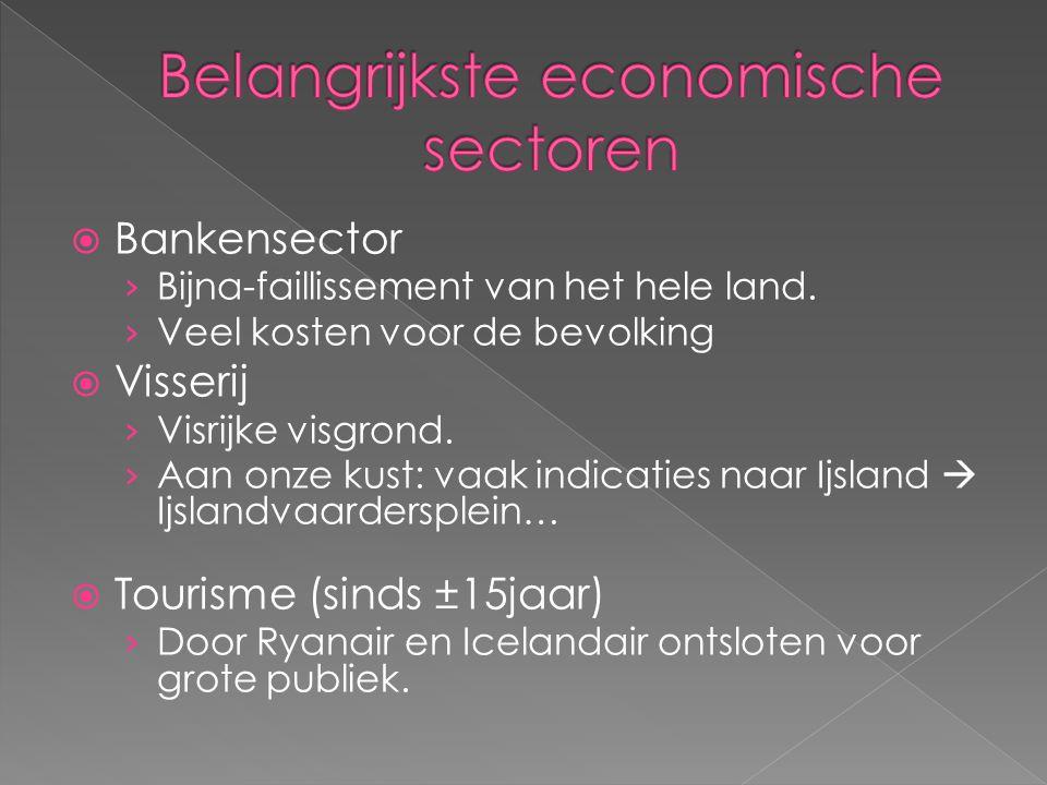 Belangrijkste economische sectoren