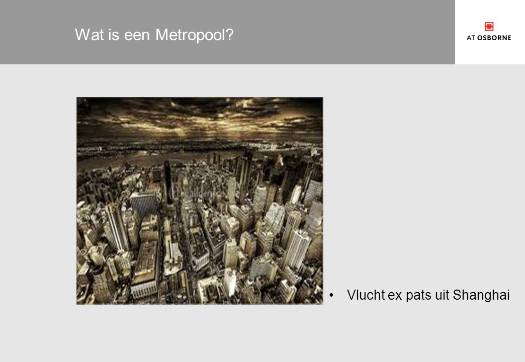Wat is een Metropool Vlucht ex pats uit Shanghai