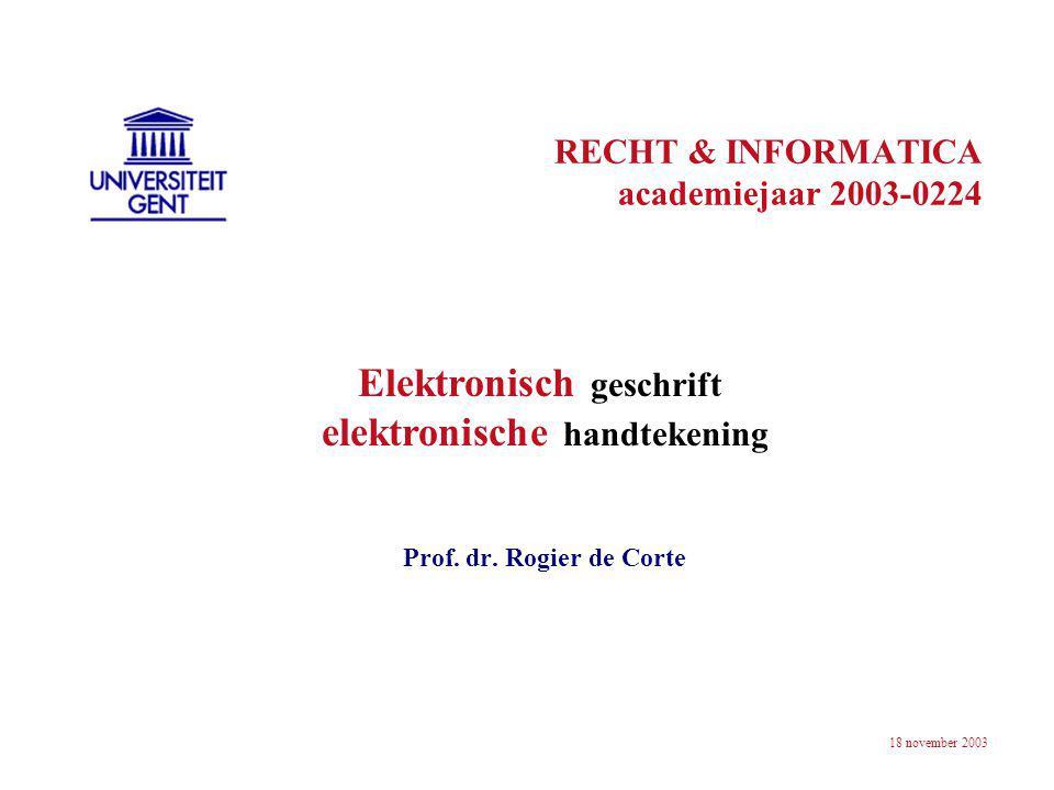 RECHT & INFORMATICA academiejaar 2003-0224