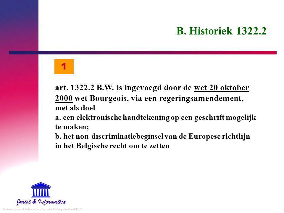 B. Historiek 1322.2 1.