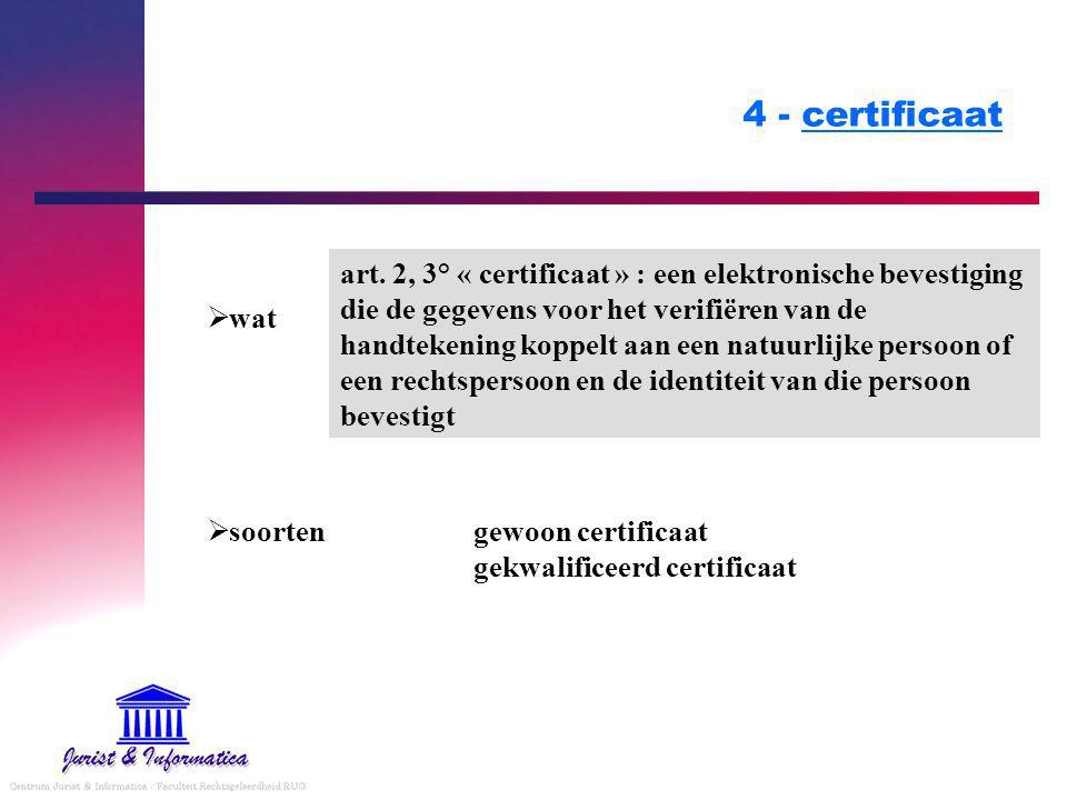 4 - certificaat