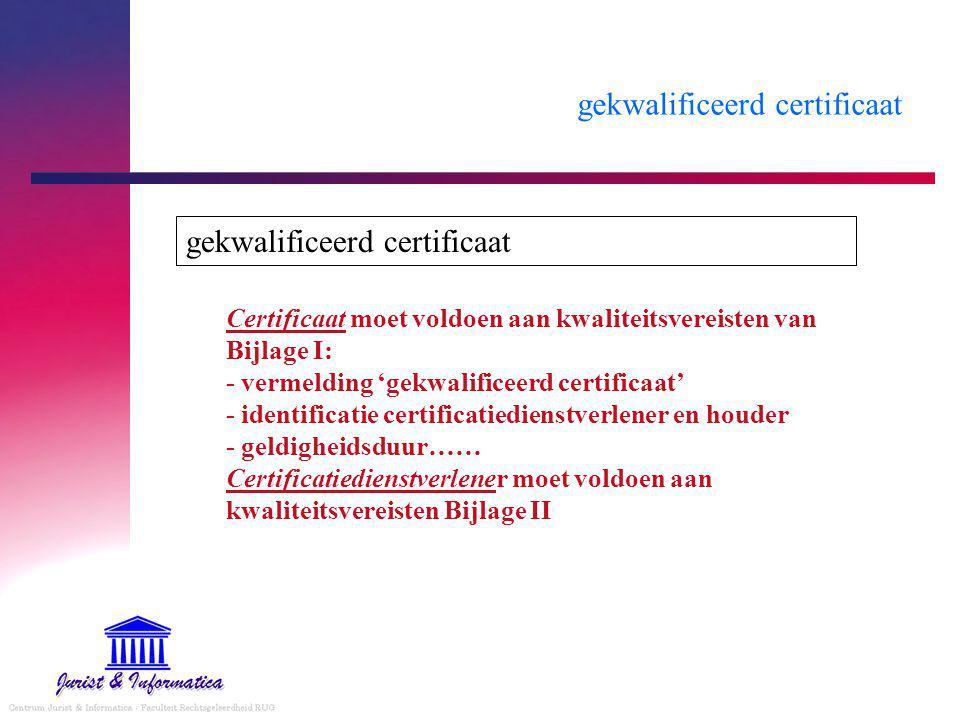 gekwalificeerd certificaat