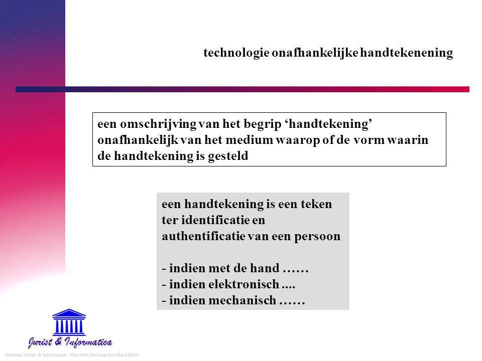 technologie onafhankelijke handtekenening