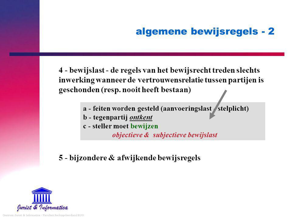 algemene bewijsregels - 2