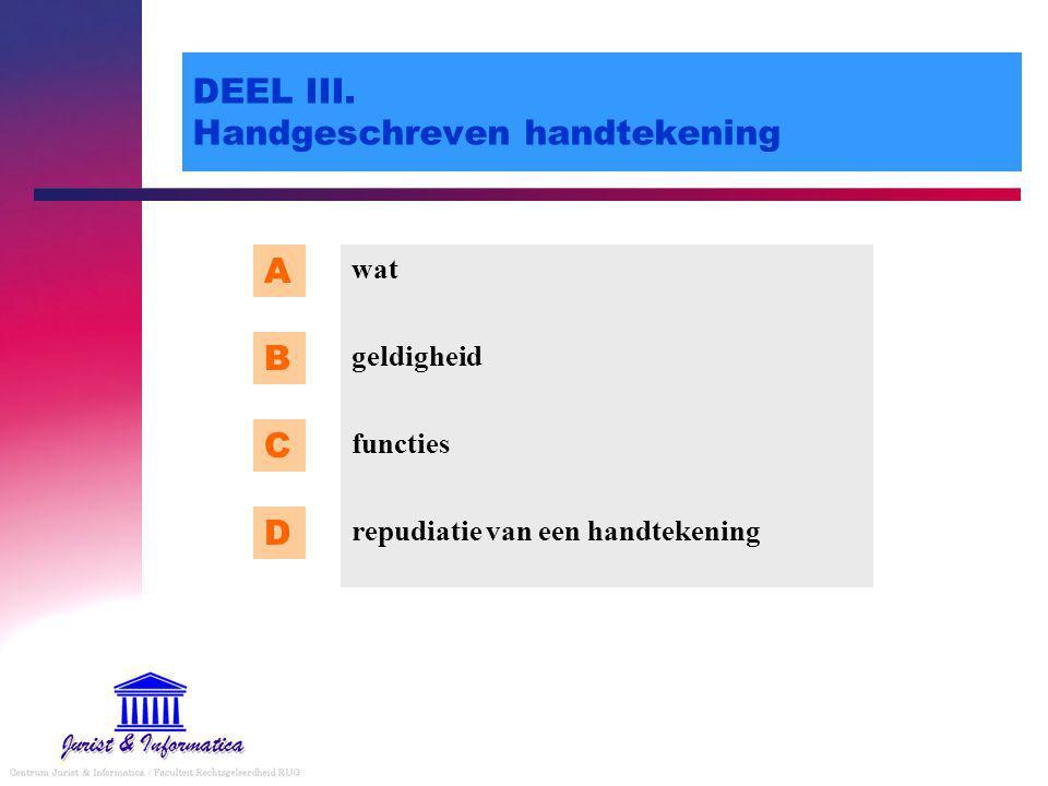 DEEL III. Handgeschreven handtekening