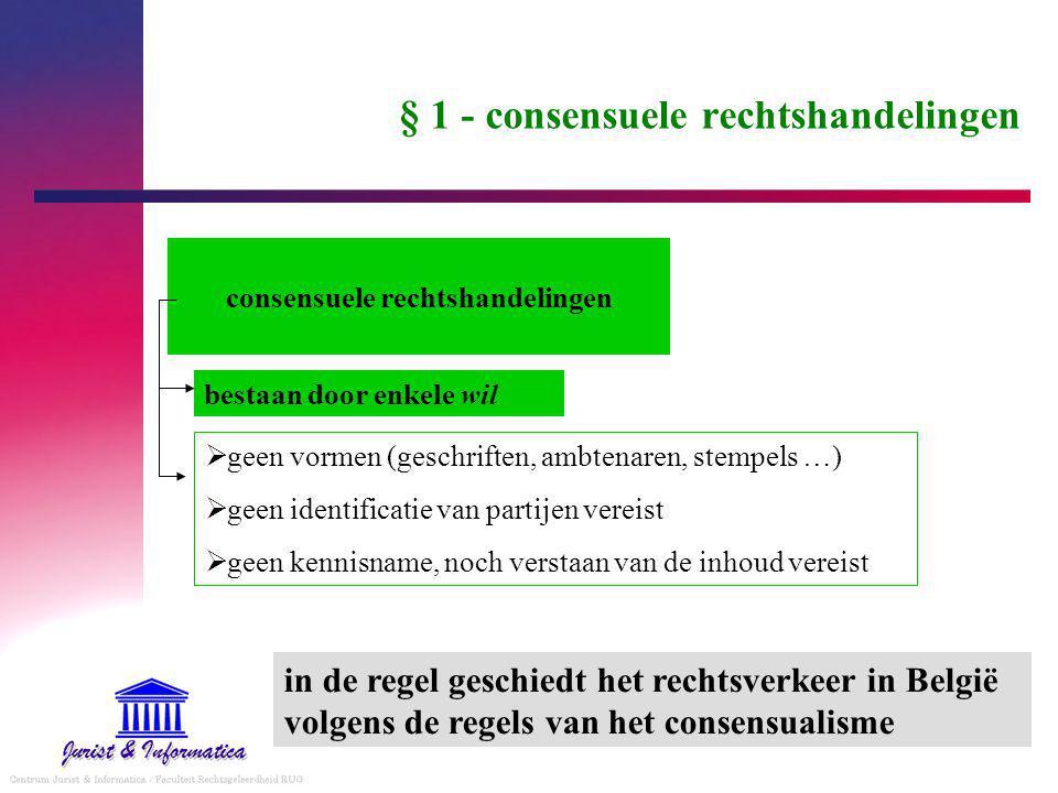 § 1 - consensuele rechtshandelingen
