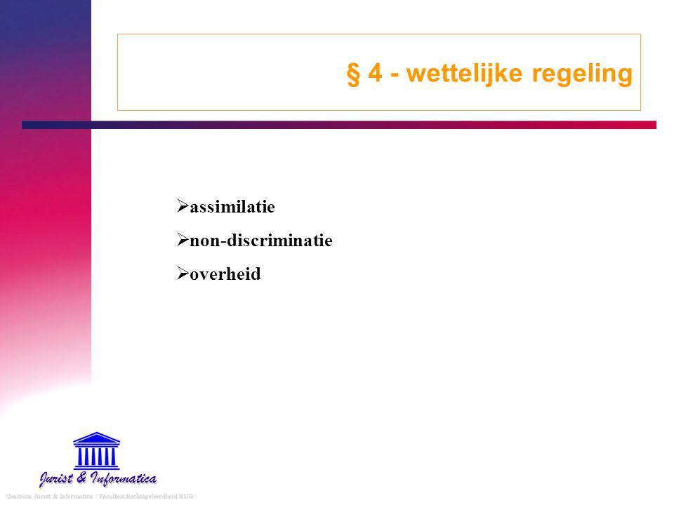 § 4 - wettelijke regeling