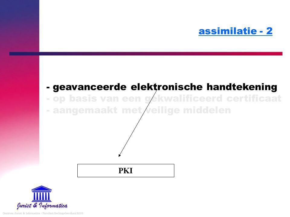 assimilatie - 2 - geavanceerde elektronische handtekening - op basis van een gekwalificeerd certificaat - aangemaakt met veilige middelen.