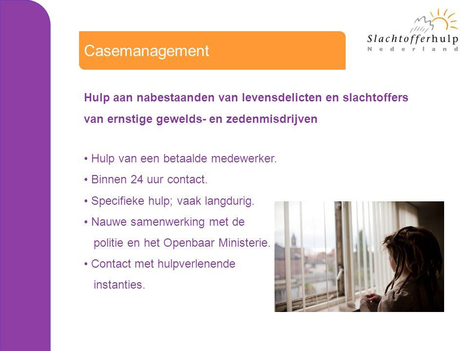 Casemanagement Hulp aan nabestaanden van levensdelicten en slachtoffers. van ernstige gewelds- en zedenmisdrijven.