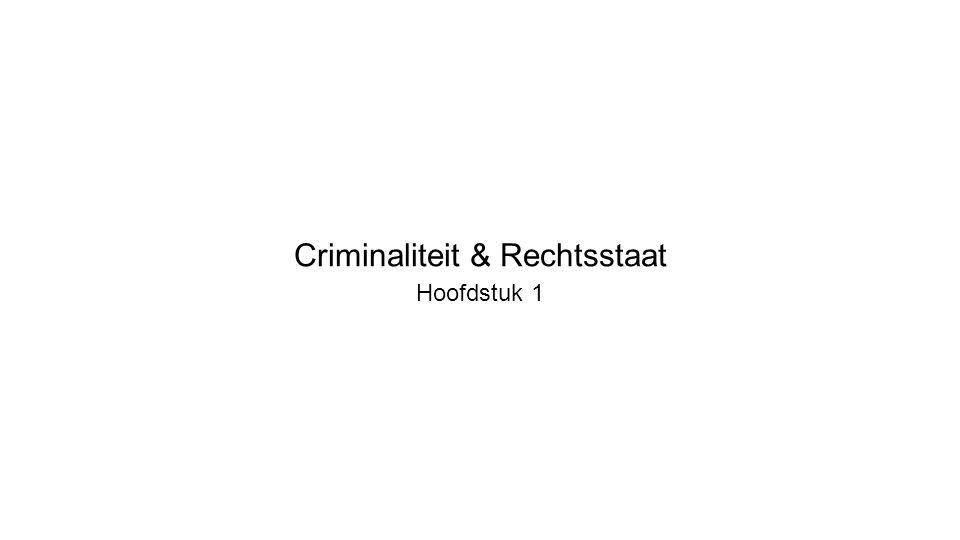 Criminaliteit & Rechtsstaat