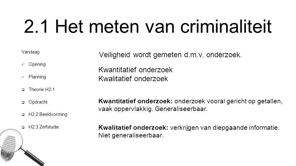 2.1 Het meten van criminaliteit
