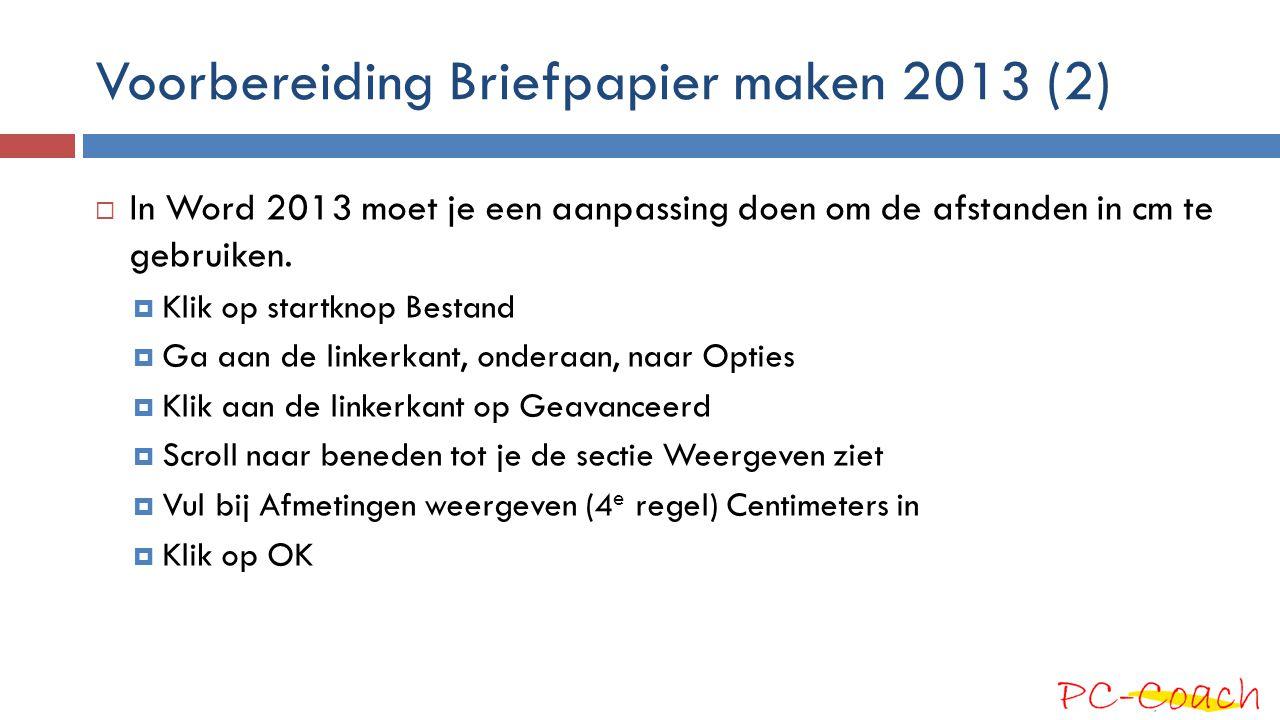 Voorbereiding Briefpapier maken 2013 (2)