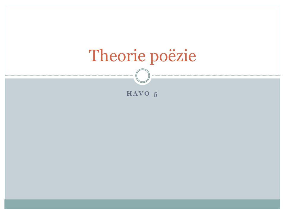 Theorie poëzie Havo 5