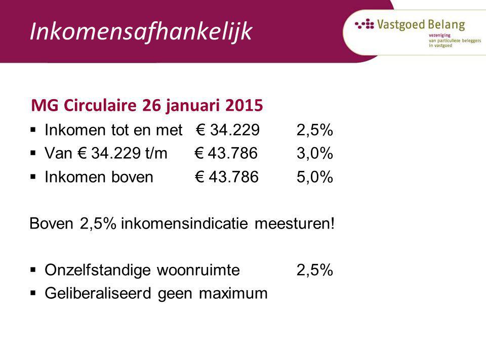 Inkomensafhankelijk MG Circulaire 26 januari 2015
