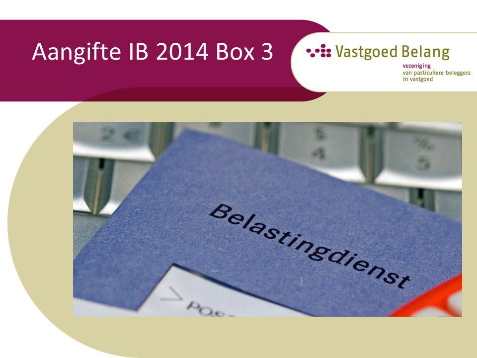 Aangifte IB 2014 Box 3