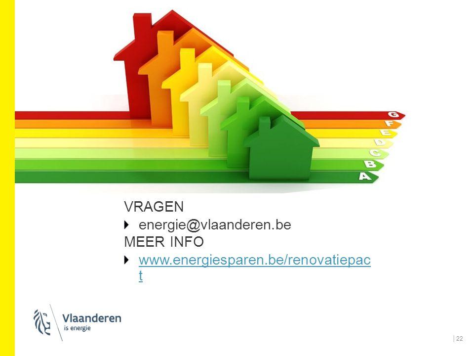 VRAGEN energie@vlaanderen.be MEER INFO www.energiesparen.be/renova tiepact
