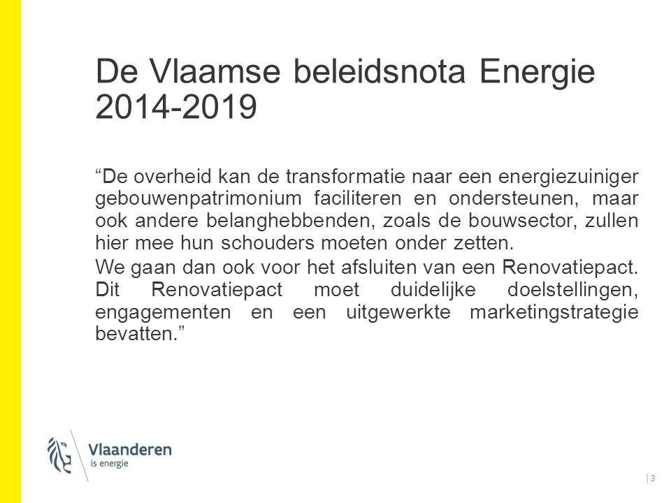 De Vlaamse beleidsnota Energie 2014-2019