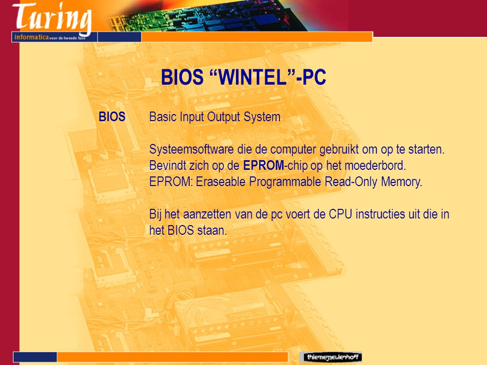 BIOS WINTEL -PC BIOS Basic Input Output System